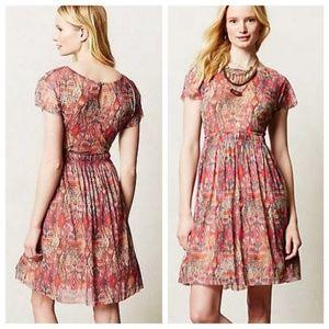 Anthropologie Simi Mesh Dress by Weston Wear S